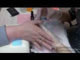 Покрытие нарощенных ногтей гель-лаком кошачий глаз ?