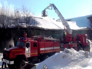 Пожар в гаражном боксе в Мурманске