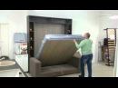 Двуспальная подъемная кровать Элара Лонга с диваном Луксурия Шелф