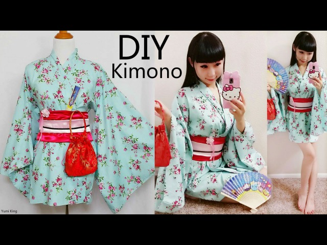 DIY Easy Kimono Yukata with Easy Pattern DIY Cosplay Costume Designed by me