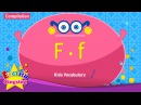 Kids vocabulary compilation - Words starting with F, f - English educational video for kids