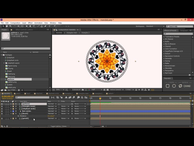 After Effects Tutorial Creating mandala with Repeater Script