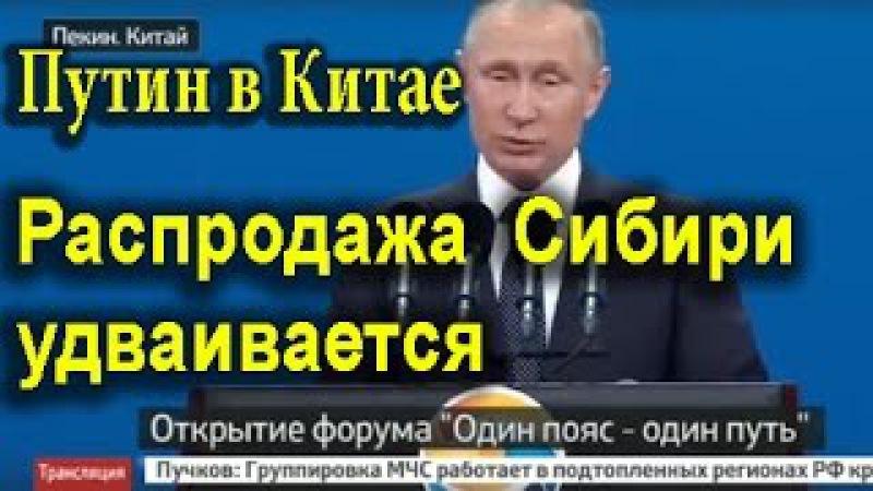 Путин в Китае сегодня Как продают Сибирь 15.05.2017