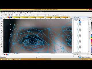 Low Poly /triangulation art speed Trace ( Corel Draw X6)