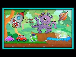 Машинка Вилли и Пришельцы ЛУНАТИКИ!!!! Мультик игра, как Красная машина помогает Инопланетянам!