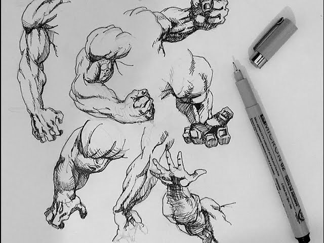 How to Draw Superheroes | 7 Popular superhero arm poses