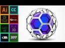 3D Logo Design Adobe Illustrator CC HD Honeycomb 2017