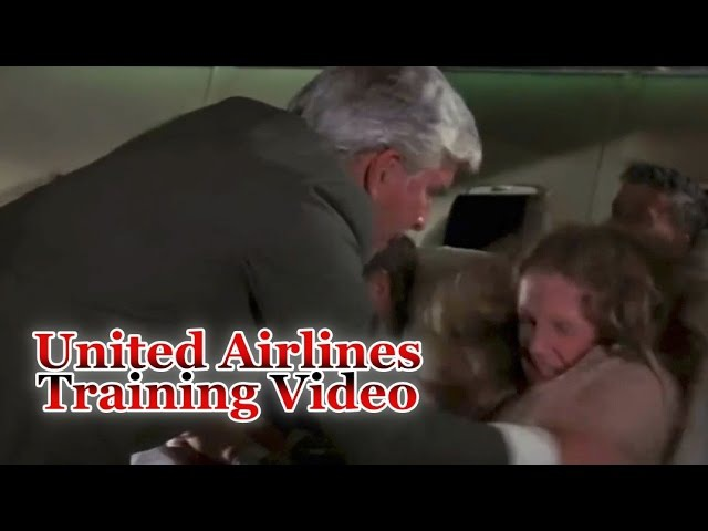 Funny MEME United Airlines Training flight Video How to throw passengers off Overcrowded plane