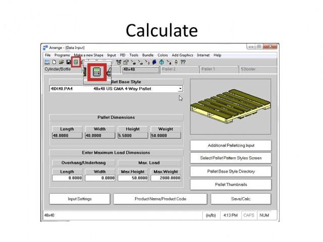 CAPE PACK Software - Arrange Group Overview