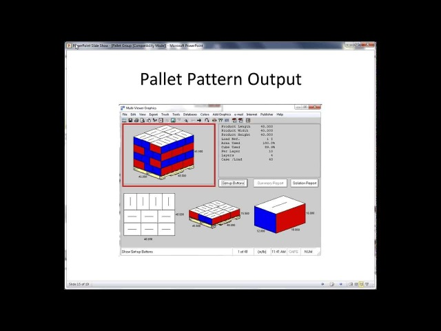 CAPE PACK Software - Pallet Group Overview