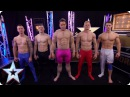 Stephen gets topless and joins hunky gymnasts 4G   Britain's Got More Talent 2017