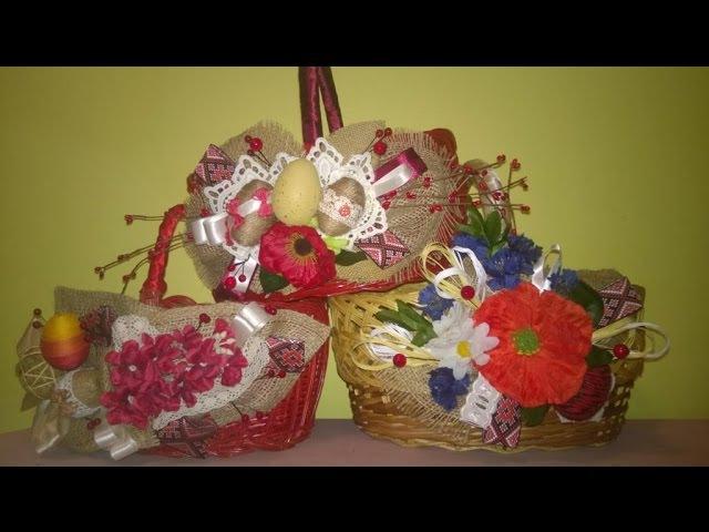 Пасхальний кошик. Майстер-клас Decorating of the Easter basket