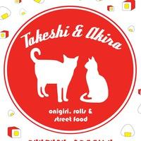 Логотип Takeshi & Akira - роллы, онигири и стрит-фуд!