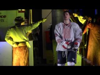 Канадские хоккеисты вышли на лёд в украинских вышиванках