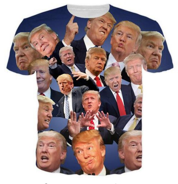 Вот такая футболка есть на AliExpress!  https://ru.aliexpress.com/item/Funny-Donald-Trump-T-Shirt-USA-presidential-election-Campaign-Vote-Republican-candidate-Tops-Tees-Men-Women/32707699739.html