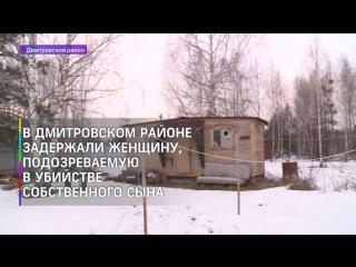 В Подмосковье задержали подозреваемую в убийстве собственного сына