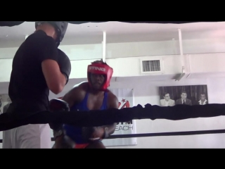 Claressa Shields DESTROYS male boxer in sparring session at 5th Street Gym in Miami