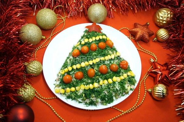 Новые новогодние салатики с фото