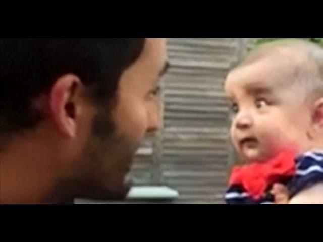 Baby captivated by US TV host Jason Silva