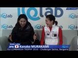 Kanako MURAKAMI 村上佳菜子 SP - 2016 Lombardia Trophy