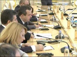 С.В.Лавров в ходе переговоров с МИД Сербии И.Дачичем