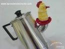 1º Parte Protetor de Bico Bule Chaleira em Croche Aprendendo Crochê