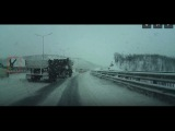 Мурманск 17022017 АВАРИЯ - ДТП два раза сбитый мужчина на ленинградке