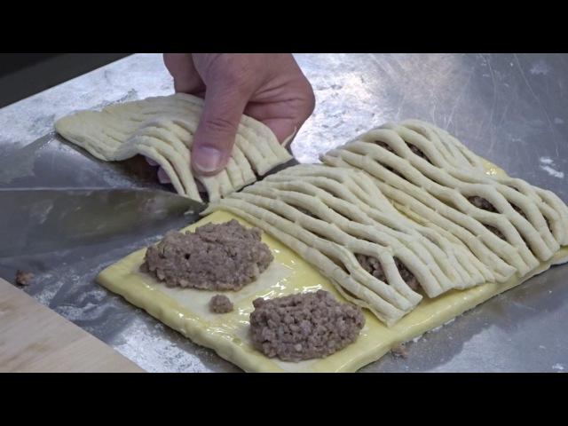 Слоеные пирожки с мясом. Обучение персонала приготовлению пирожков с мясом из слоеного теста » Freewka.com - Смотреть онлайн в хорощем качестве