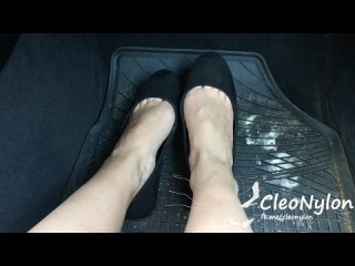 #28 date in car with bare feet shoeplaying
