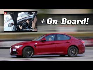 Alfa Romeo Giulia Quadrifoglio [On-Board] - Action, Powerslide V6 Turbo Sound!