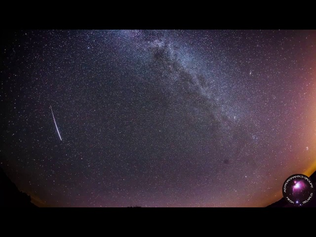 Метеорный поток Персеиды 2016(Таймлапс FullHD) 08/08/2016