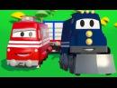 Поезд и Трансформер Карл Мультик про машинки и грузовички для детей
