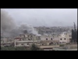 Syrian army continues to tackle insurgents in Mansheya neighborhood in Daraa and Aqaibdhm big losses