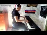 Кипелов Я свободен на пианино талантливая симпатичная брюнетка классно играет Я влюблён прям бомба да и мелодия душевная топовая
