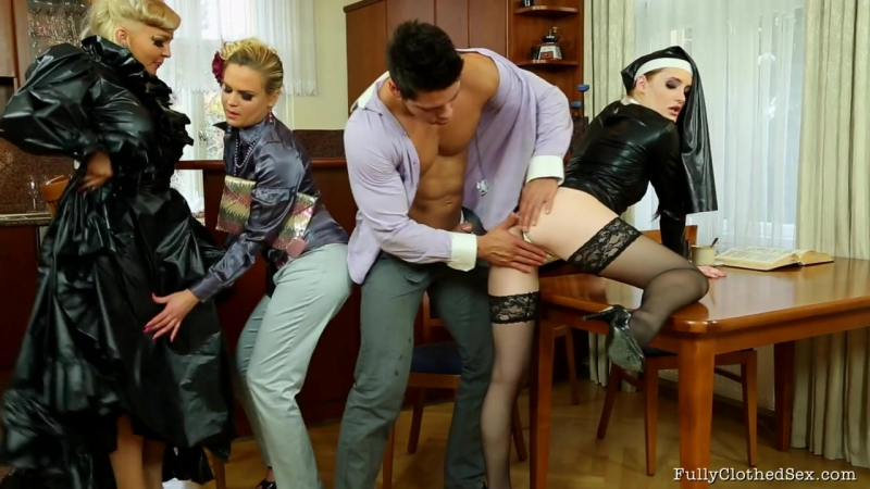 Jenna Lovely, Barra Brass and Denisa Heaven - Fully Clothed Sex