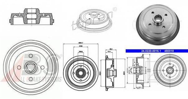 Тормозной барабан для AUDI SUPER 90