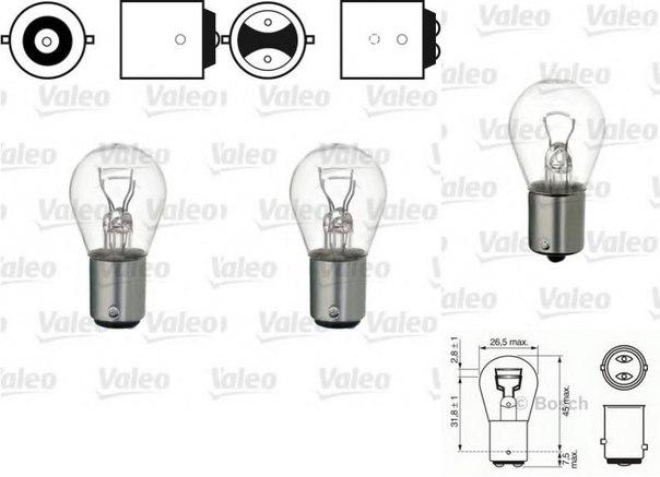 Лампа накаливания, фонарь сигнала тормож./ задний габ. огонь для AUDI V8 (44_, 4C_)
