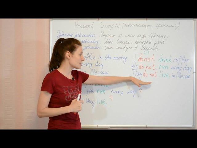Present Simple Настоящее простое время Английская грамматика Видеоуроки Myefe