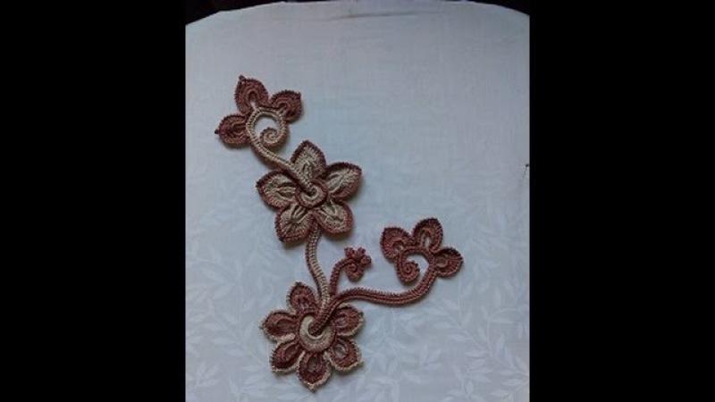 Irish lace Уроки вяз крючком ирландского кружева 2Урок Вяжем жакетКакао 1ч-композиция