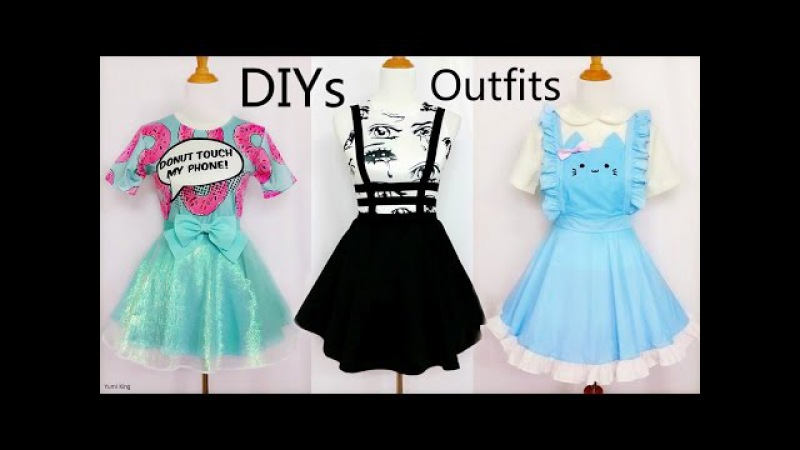 3 CoolCreative DIY Outfits: DIY Mint Shimmering SkirtBandage Suspender SkirtCat Maid Costume