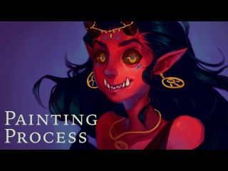 Demon Lady | painting process