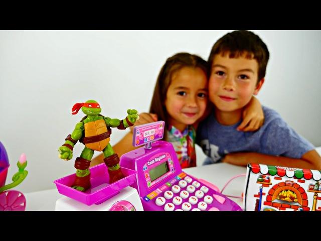 Oyun Diyarı -Ceylin'le Ninja Kaplumbağa market alışverişinde