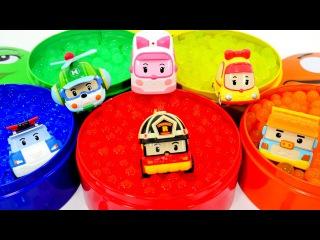Spielzeugautos - Robocar Poli - Dumpos Überraschung mit den Orbeez Bällen