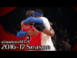 Carmelo Anthony vs Dwyane Wade Full Duel 2017.01.12 - Wade With 22 Pts, Melo With 23, 6 Ast!