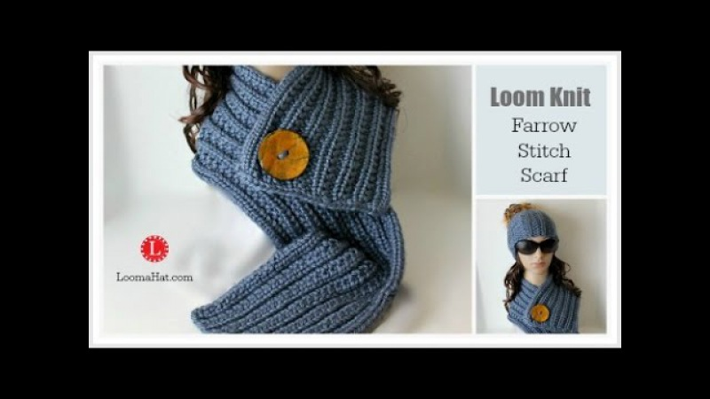 LOOM KNIT Scarf on Round Loom Pattern Project