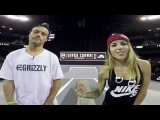 Chris Joslin and Leticia Bufoni  2016 LA Supercrown GoPro Course Preview
