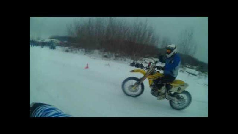 Давай на заднем! Motorcycle wheellie. SnowDogs 2016.р