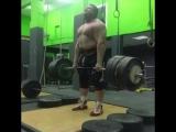 Влад Алхазов, тяга с плинтов 420 кг на 2 раза