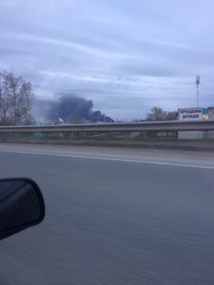 В Перми произошел пожар на нефтеперерабатывающем заводе