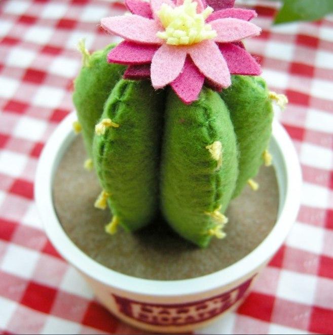 игольница кактус своими руками